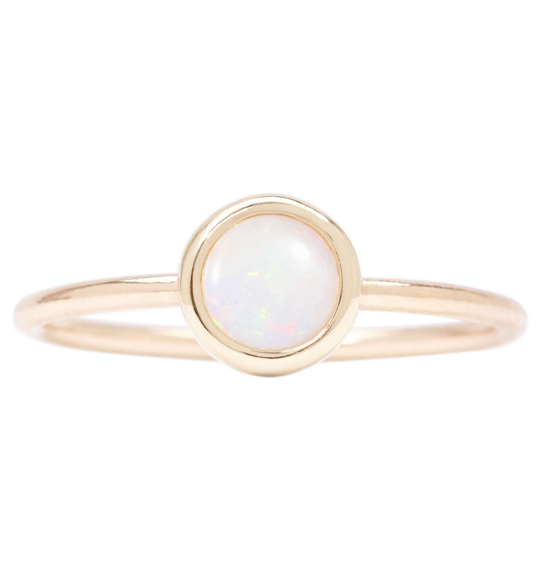 Gemstone Stacking Ring With Opal