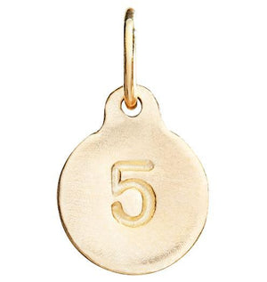 """5"" Number Charm Jewelry Helen Ficalora 14k Yellow Gold"
