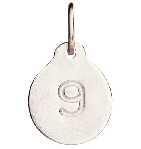 """9"" Number Charm Jewelry Helen Ficalora 14k White Gold"