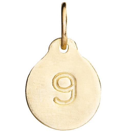 """9"" Number Charm Jewelry Helen Ficalora 14k Yellow Gold"