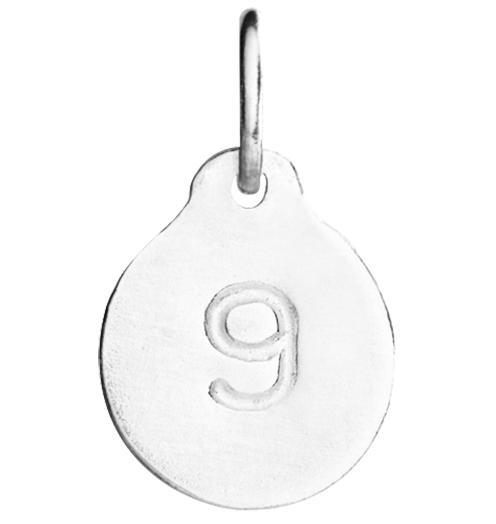 """9"" Number Charm Jewelry Helen Ficalora Sterling Silver"