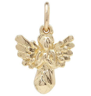 Angel Mini Charm Jewelry Helen Ficalora 14k Yellow Gold For Necklaces And Bracelets