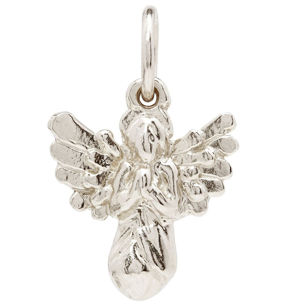 Angel Mini Charm Jewelry Helen Ficalora 14k White Gold