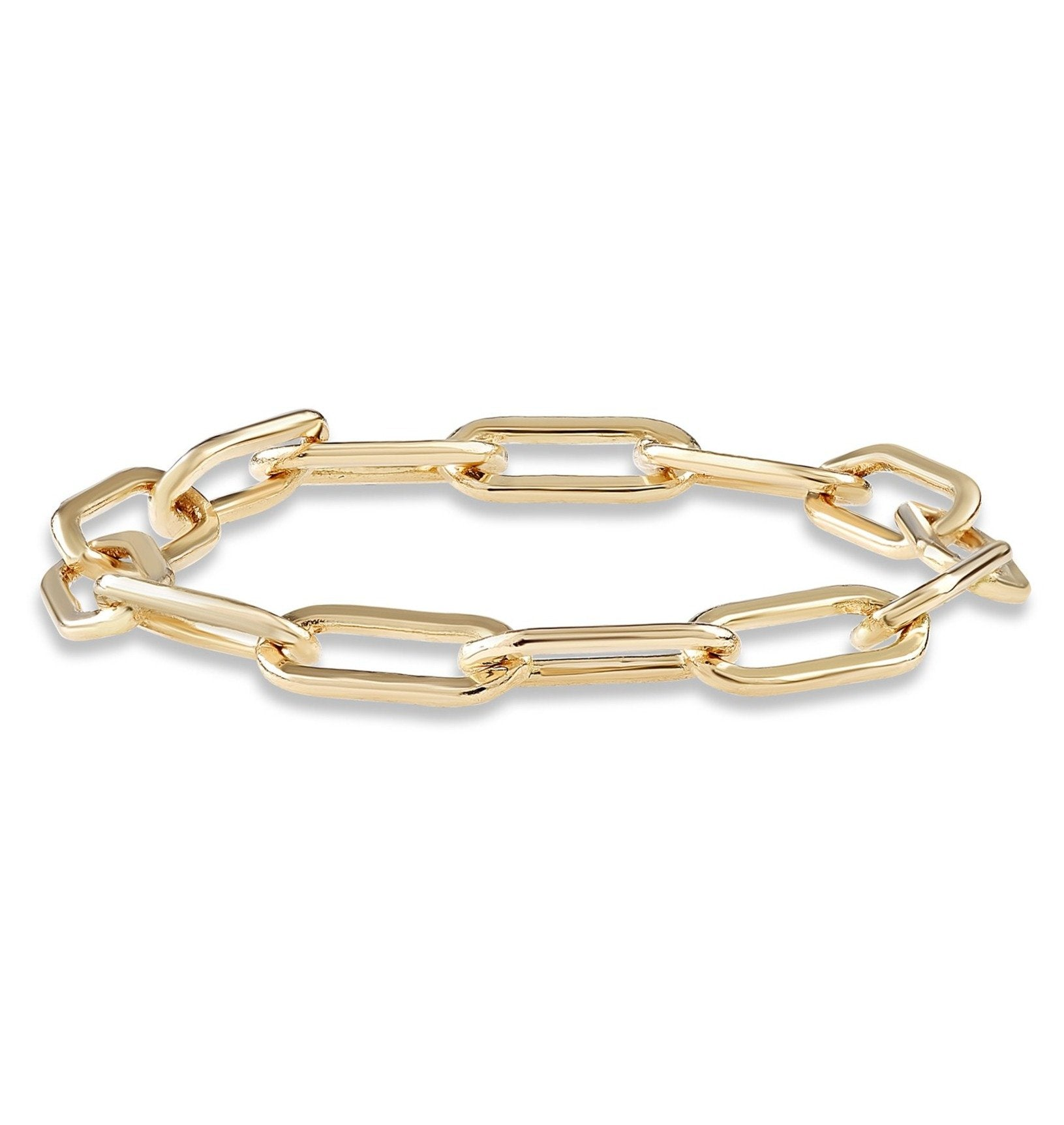 Chain Ring - Helen Ficalora Jewelry - 14k Yellow Gold
