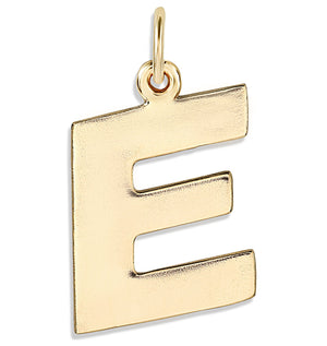 """D"" Cutout Letter Charm 14k Yellow Gold Jewelry For Necklaces And Bracelets From Helen Ficalora Every Letter And Initial Available"