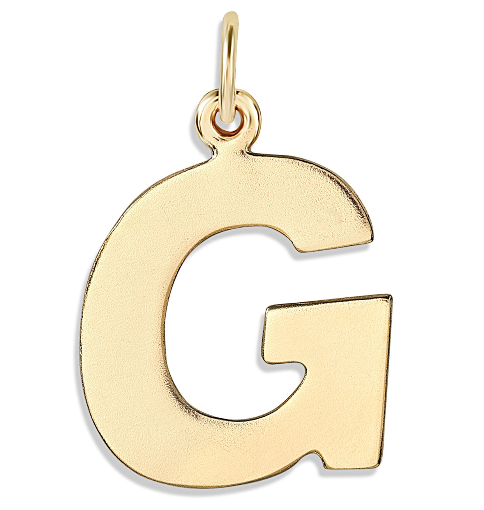 """G"" Cutout Letter Charm 14k Yellow Gold Jewelry For Necklaces And Bracelets From Helen Ficalora Every Letter And Initial Available"