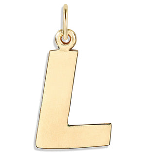 """L"" Cutout Letter Charm 14k Yellow Gold Jewelry For Necklaces And Bracelets From Helen Ficalora Every Letter And Initial Available"