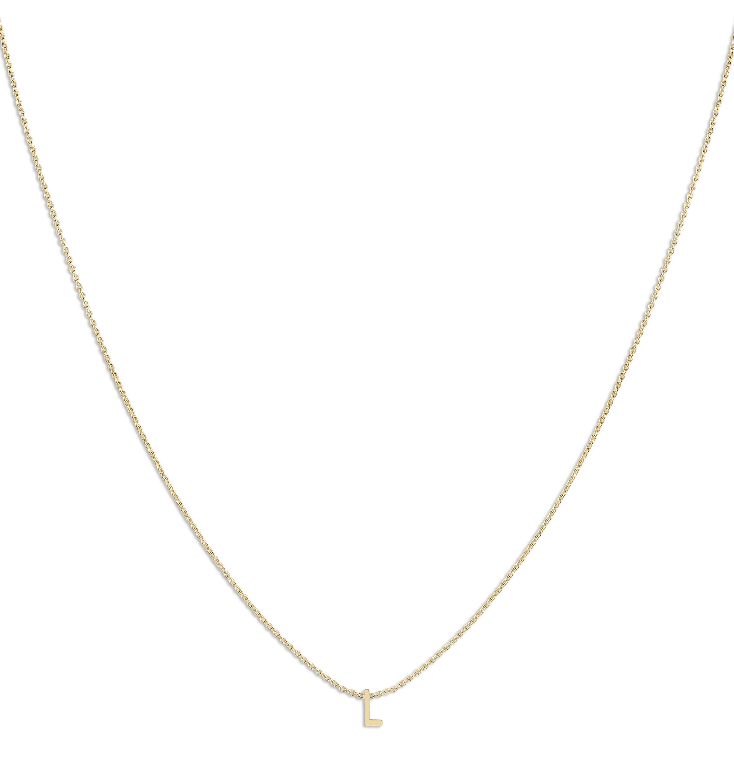 Letter Name Chain - Helen Ficalora Jewelry - 14k Yellow Gold