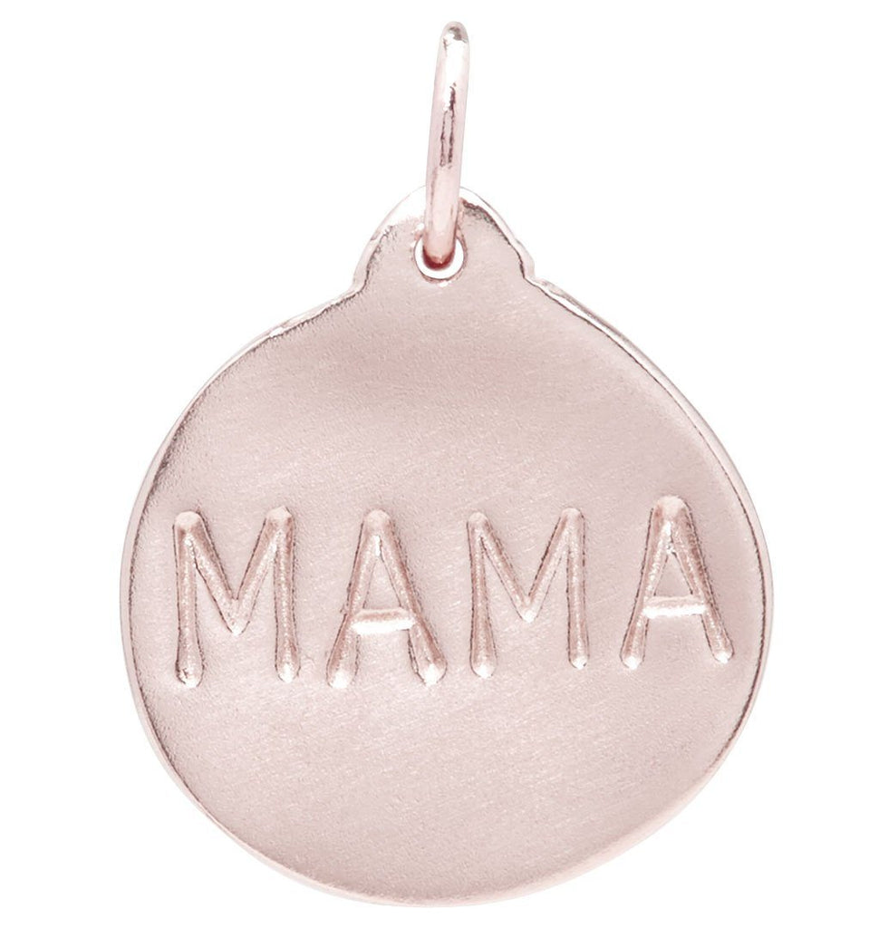 """Mama"" Disk Charm Jewelry Helen Ficalora 14k Pink Gold"