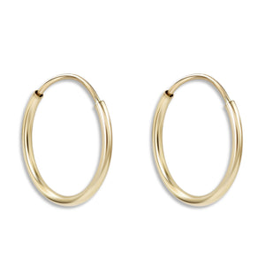 Dainty Hoop Earrings - Helen Ficalora Jewelry - 14k Yellow Gold