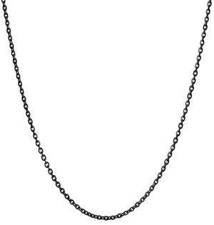 Helen's Black Chain lovingly crafted in New York. Made With Solid Sterling Silver. Size 15-19 inches. Gift Wrapped. Free Express Shipping.