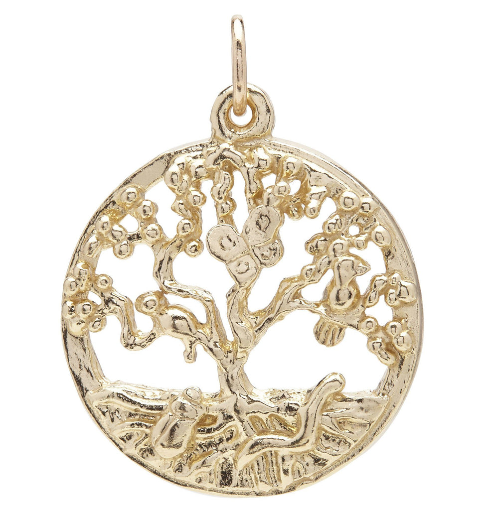 Tree of Life Charm Jewelry Helen Ficalora 14k Yellow Gold