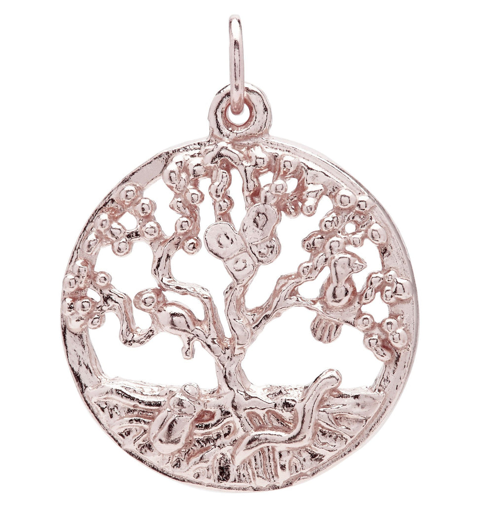 Tree of Life Charm Jewelry Helen Ficalora 14k Pink Gold