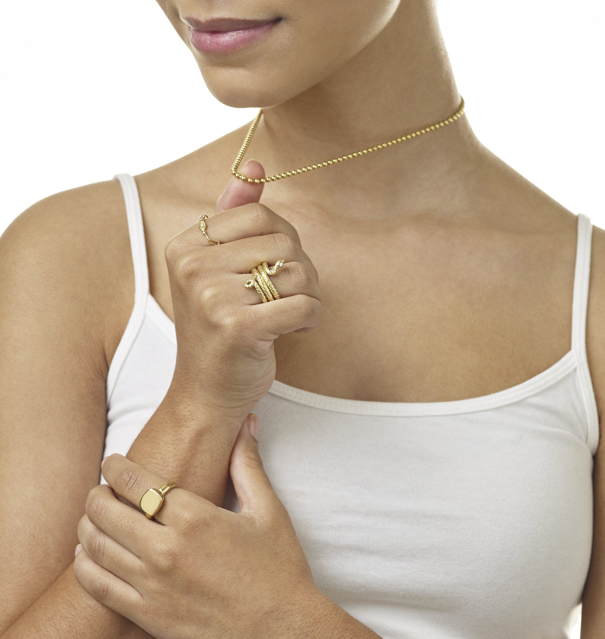 Ball Chain Yellow Gold Jewelry For Necklaces From Helen Ficalora