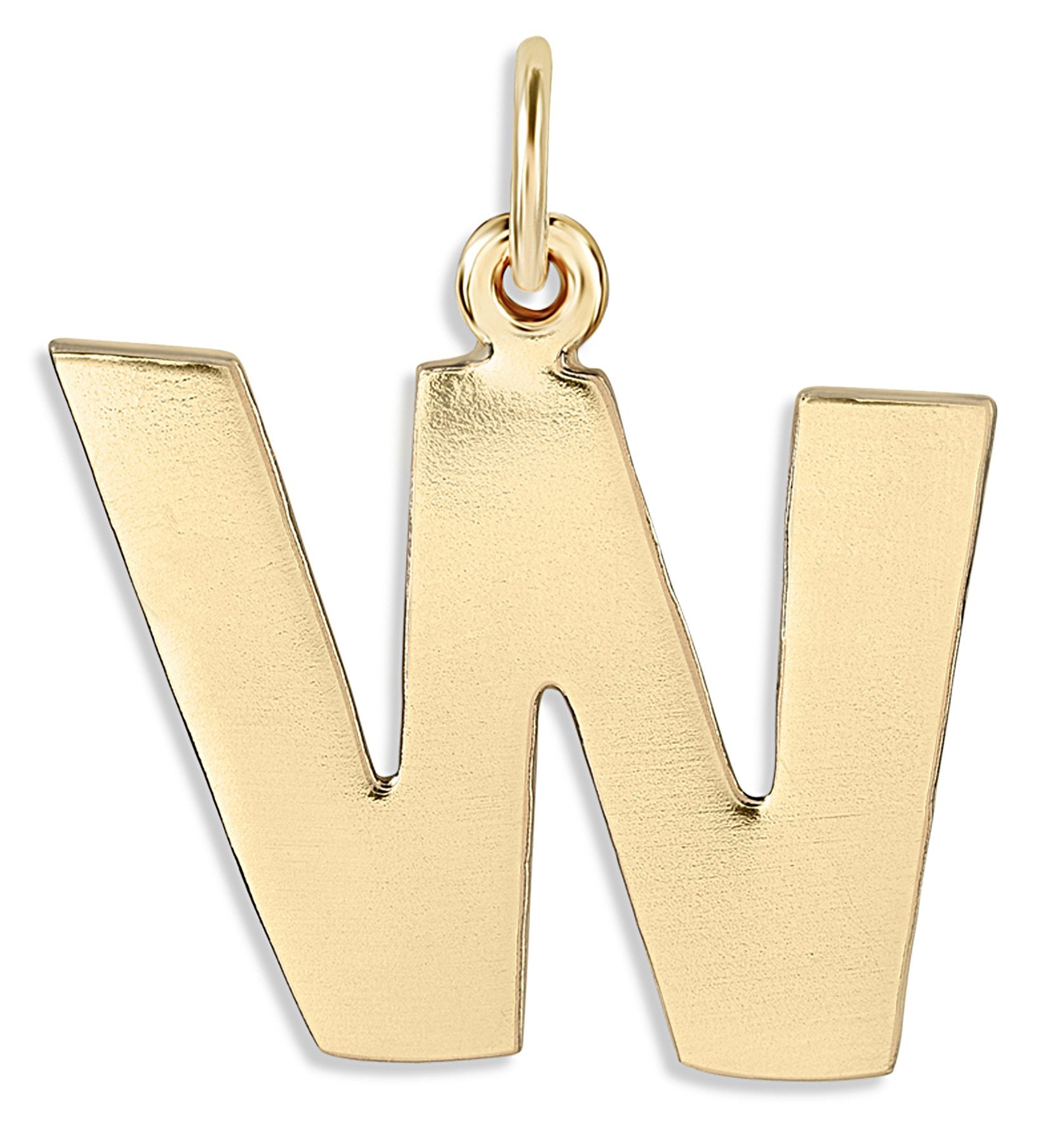 """W"" Cutout Letter Charm 14k Yellow Gold Jewelry For Necklaces And Bracelets From Helen Ficalora Every Letter And Initial Available"