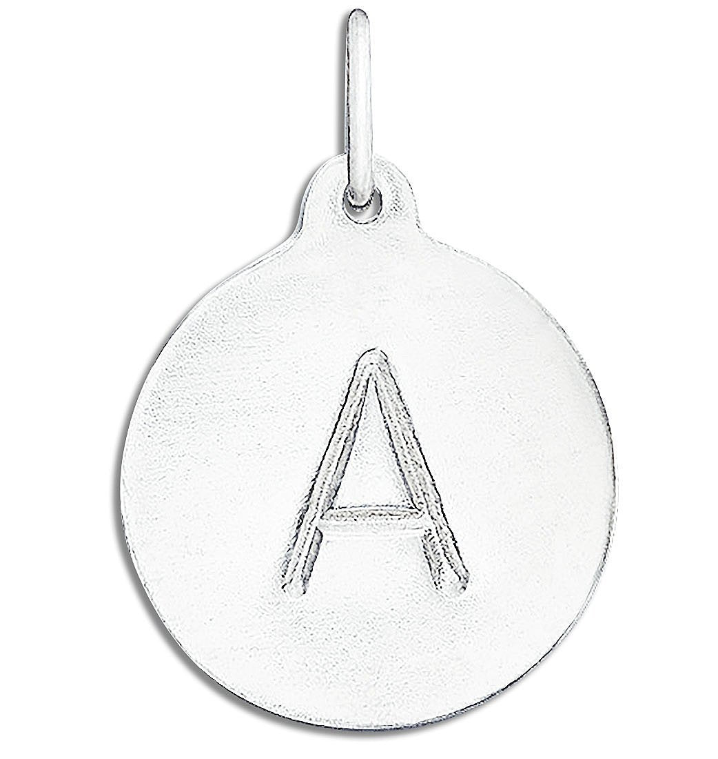 """A"" Alphabet Charm Sterling Silver Jewelry For Necklaces And Bracelets From Helen Ficalora Every Letter And Initial Available"