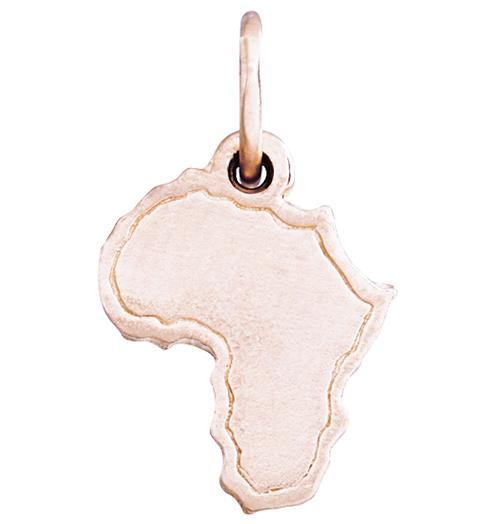 Africa Mini Charm Jewelry Helen Ficalora 14k Pink Gold
