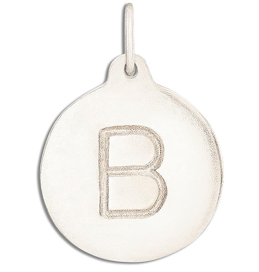 """B"" Alphabet Charm 14k White Gold Jewelry For Necklaces And Bracelets From Helen Ficalora Every Letter And Initial Available"