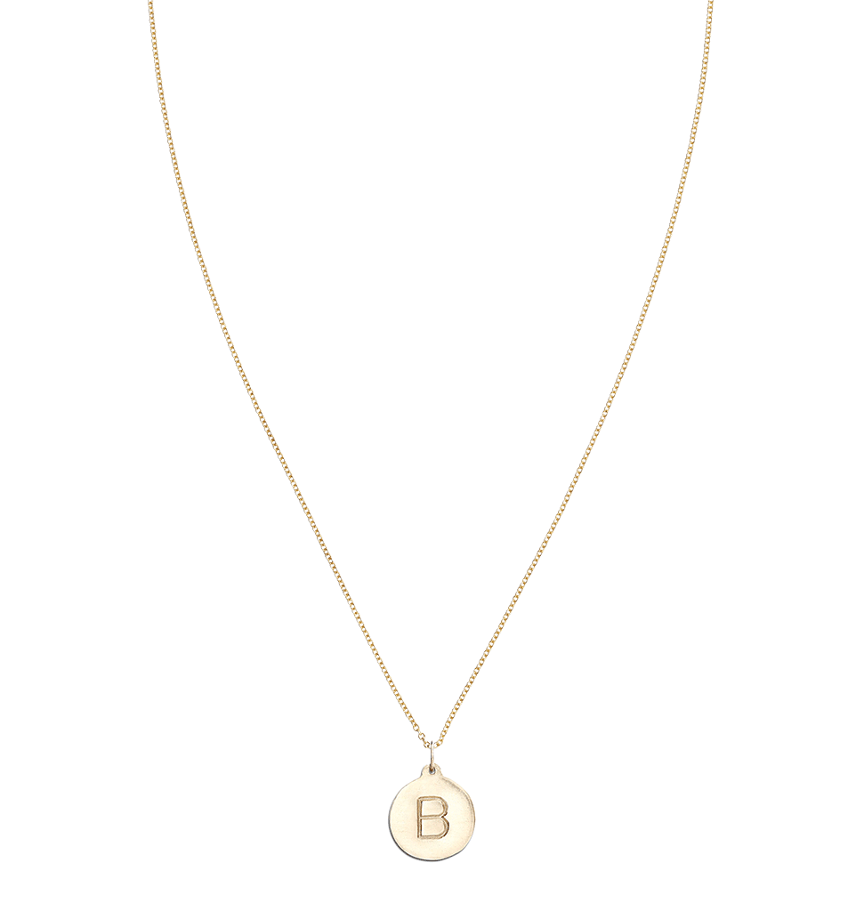 """B"" Alphabet Charm 14k Yellow Gold Jewelry For Necklaces And Bracelets From Helen Ficalora Every Letter And Initial Available"