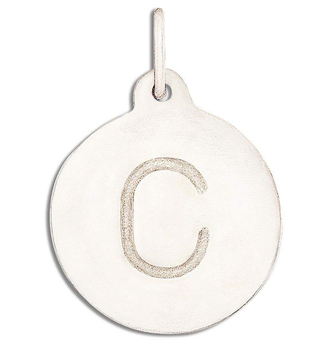 """C"" Alphabet Charm 14k White Gold Jewelry For Necklaces And Bracelets From Helen Ficalora Every Letter And Initial Available"
