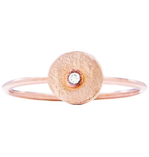 Disk Stacking Ring With Diamond Jewelry Helen Ficalora 14k Pink Gold 5