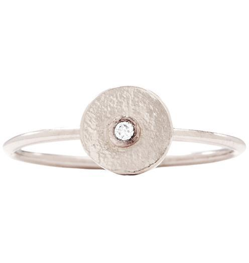 Disk Stacking Ring With Diamond Jewelry Helen Ficalora 14k White Gold 5