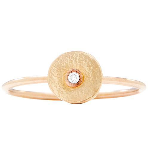 Disk Stacking Ring With Diamond Jewelry Helen Ficalora 14k Yellow Gold 5