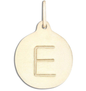 """E"" Alphabet Charm 14k Yellow Gold Jewelry For Necklaces And Bracelets From Helen Ficalora Every Letter And Initial Available"
