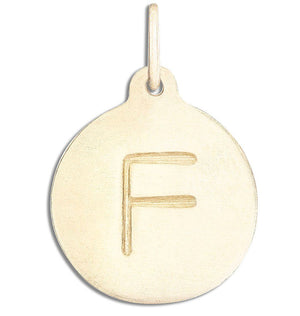 """F"" Alphabet Charm Jewelry Helen Ficalora 14k Yellow Gold  For Necklaces And Bracelets"