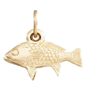 Fish Mini Charm Jewelry Helen Ficalora 14k Yellow Gold