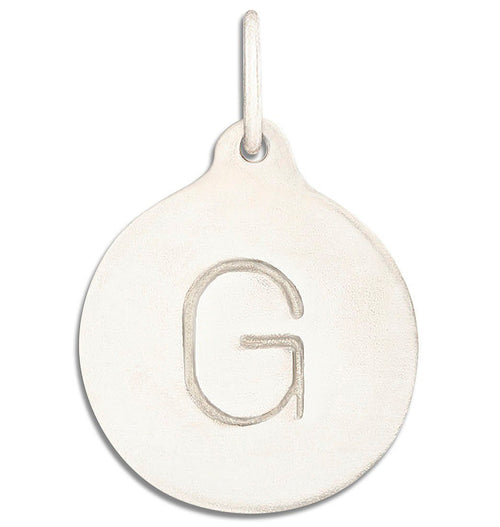 """G"" Alphabet Charm Jewelry Helen Ficalora 14k White Gold  For Necklaces And Bracelets"