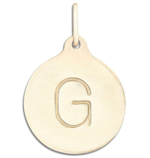 """G"" Alphabet Charm Jewelry Helen Ficalora 14k Yellow Gold  For Necklaces And Bracelets"