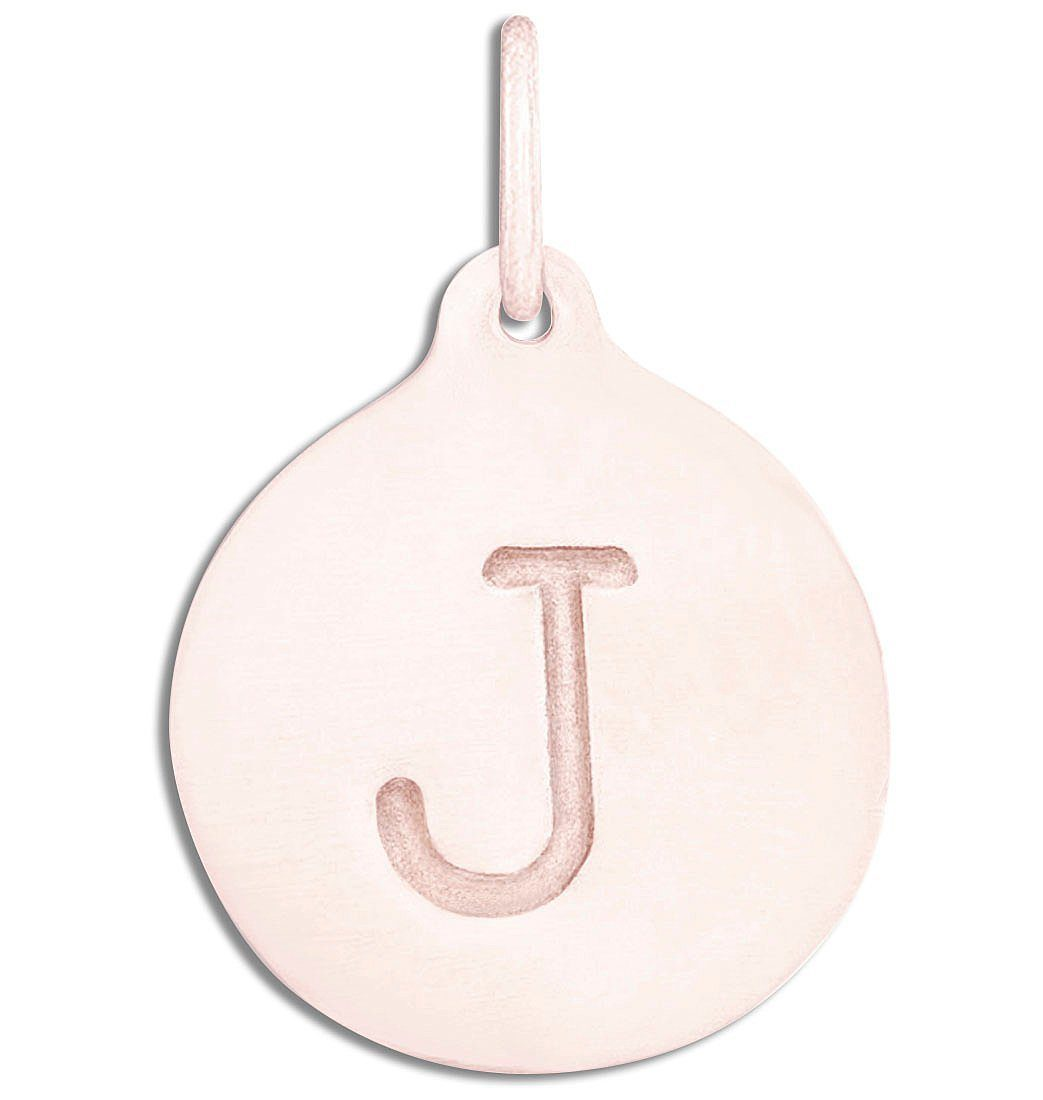 """J"" Alphabet Charm Jewelry Helen Ficalora 14k Pink Gold For Necklaces And Bracelets"