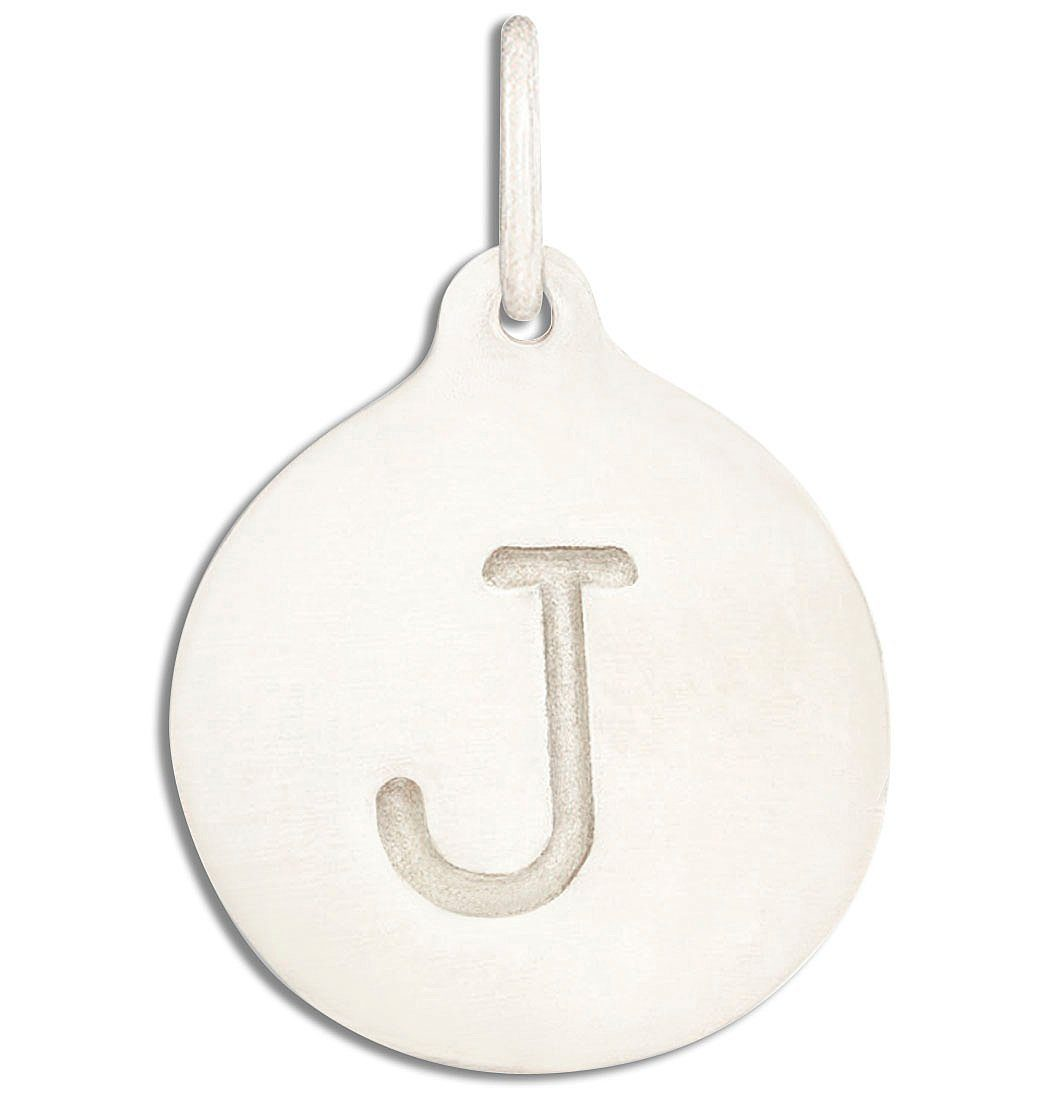 """J"" Alphabet Charm Jewelry Helen Ficalora 14k White Gold For Necklaces And Bracelets"