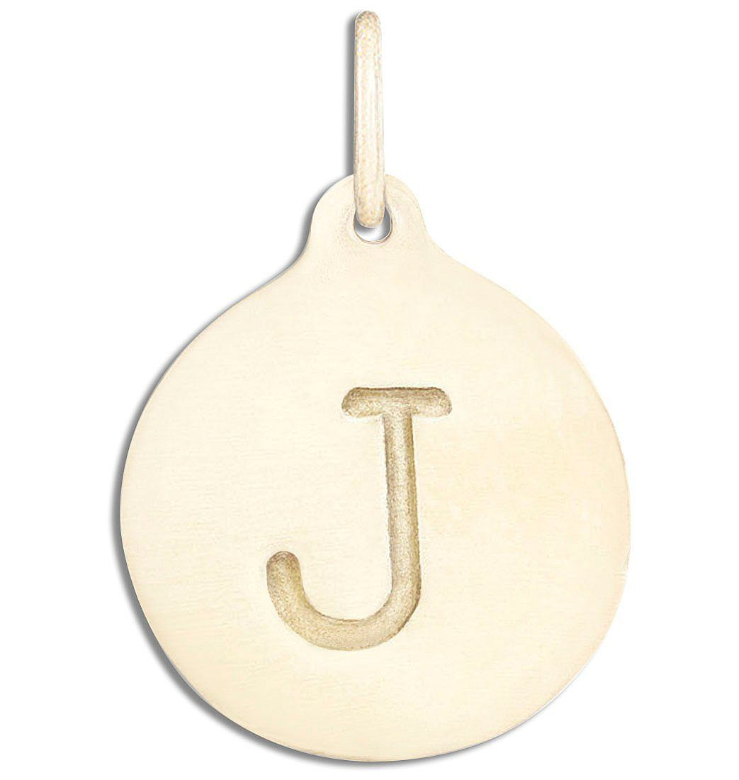 """J"" Alphabet Charm Jewelry Helen Ficalora 14k Yellow Gold For Necklaces And Bracelets"