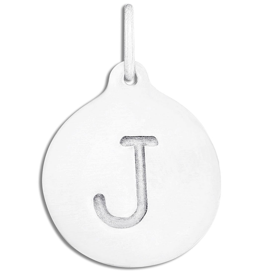 """J"" Alphabet Charm Jewelry Helen Ficalora Sterling Silver For Necklaces And Bracelets"