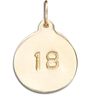 """18"" Disk Charm Jewelry Helen Ficalora 14k Yellow Gold"