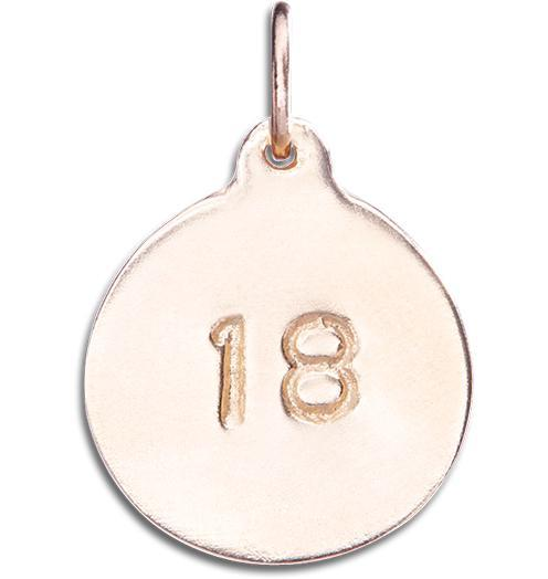 """18"" Disk Charm - 14k Pink Gold - Jewelry - Helen Ficalora - 2"