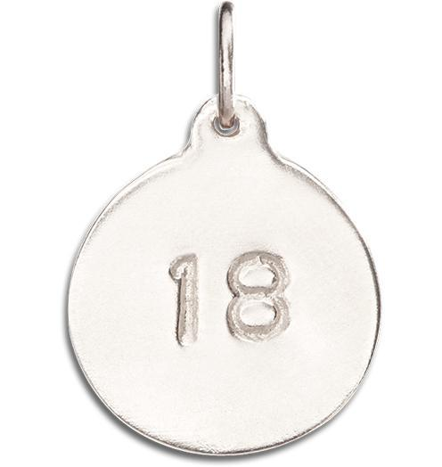 """18"" Disk Charm - 14k White Gold - Jewelry - Helen Ficalora - 3"