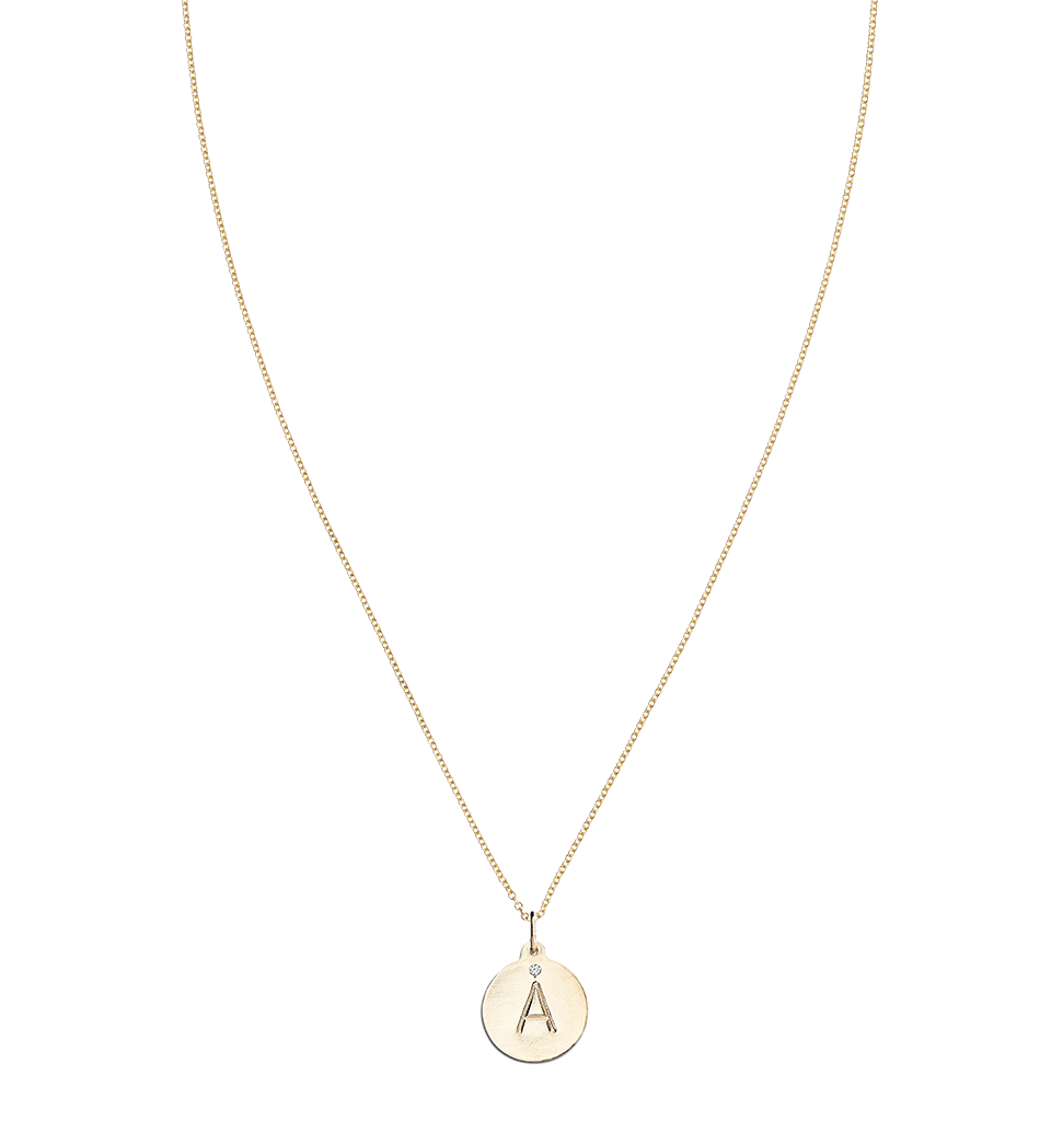 """A"" Alphabet Charm with Diamond Jewelry Helen Ficalora For Necklaces And Bracelets"