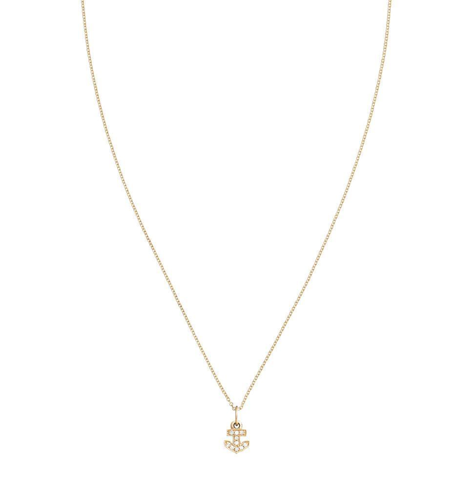 Anchor Mini Charm Pave Diamonds -  - Jewelry - Helen Ficalora - 4