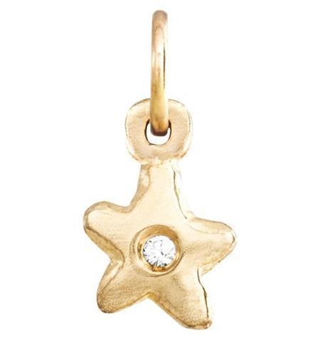 Baby Star Charm With Diamond Jewelry Helen Ficalora 14k Yellow Gold For Necklaces And Bracelets
