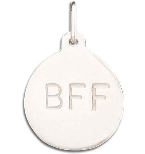 """BFF"" Disk Charm - 14k White Gold - Jewelry - Helen Ficalora - 2"