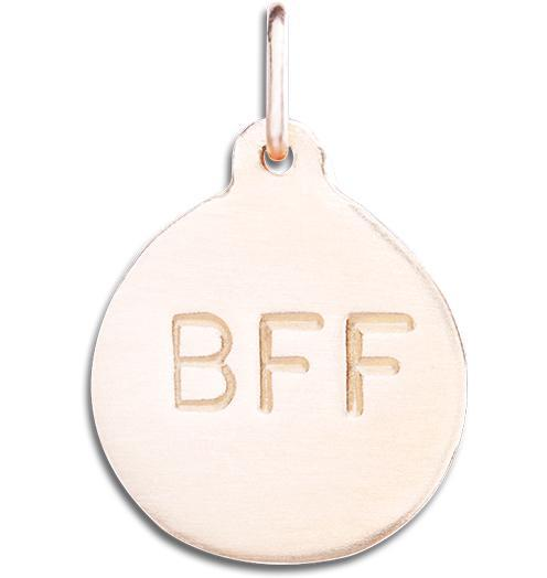 """BFF"" Disk Charm - 14k Pink Gold - Jewelry - Helen Ficalora - 3"