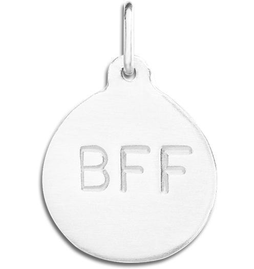 """BFF"" Disk Charm - Sterling Silver - Jewelry - Helen Ficalora - 4"