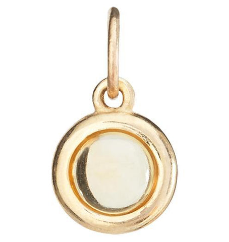 Birth Jewel Cabochon Charm With Citrine Jewelry Helen Ficalora 14k Yellow Gold