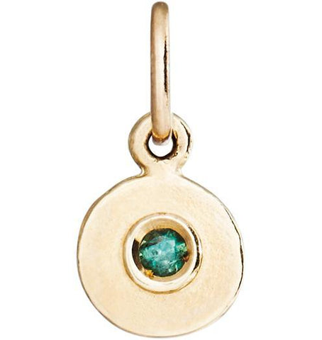 Birth Jewel Disk Charm With Alexandrite - 14k Yellow Gold - Jewelry - Helen Ficalora - 1