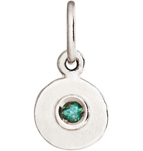 Birth Jewel Disk Charm With Alexandrite - 14k White Gold - Jewelry - Helen Ficalora - 2