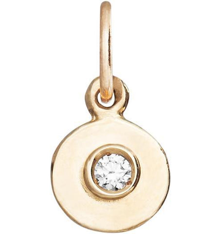 Birth Jewel Mini Disk Charm With Diamond Jewelry Helen Ficalora 14k Yellow Gold