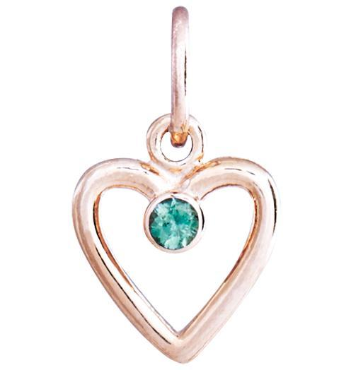 Birth Jewel Heart Charm With Alexandrite - 14k Pink Gold - Jewelry - Helen Ficalora - 3